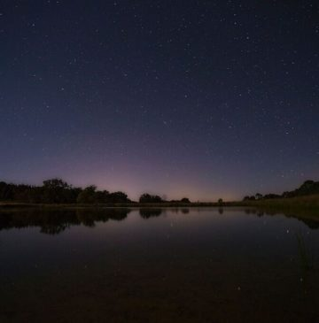 Alure Stanthorpe Dam at night