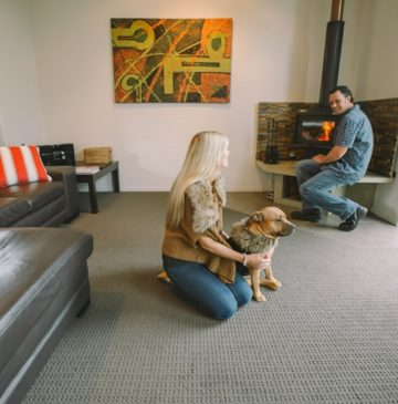 Alure Stanthorpe couple with dog