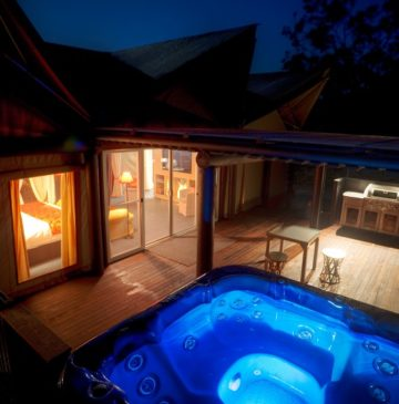 Alure Stanthorpe Glamping Tent with outdoor spa and BBQ