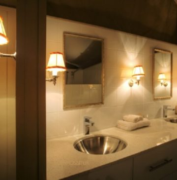 Alure Stanthorpe Glamping Tent Bathroom