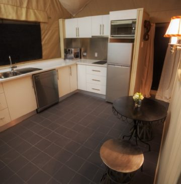 Alure Stanthorpe Glamping Tent Kitchen