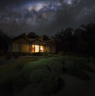 Alure Stanthorpe tent under Milkyway