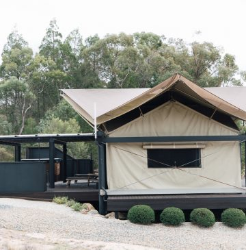 Glamping Tent accommodation at Alure Stanthorpe